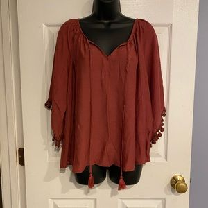 NWT Urban Outfitters 3/4 Peasant Top